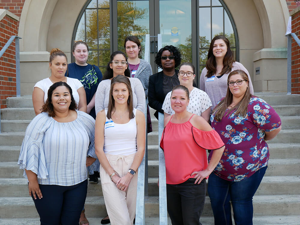 Photo of the inaugural Elms-St. Louis University Master of Social Work (MSW) class