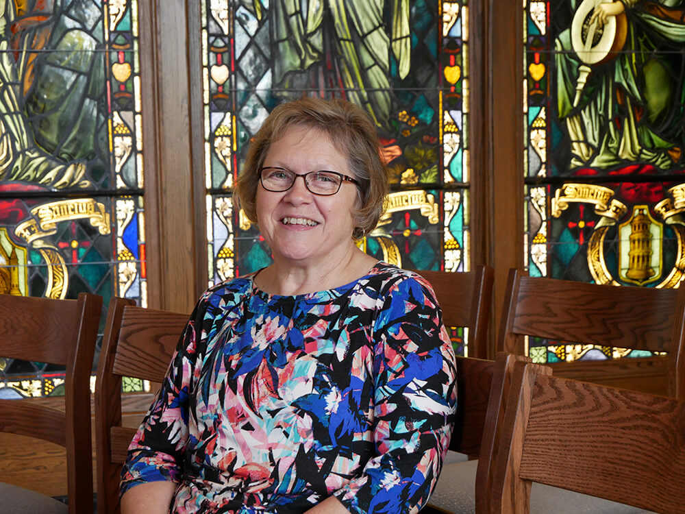 Photo of Peggy Constant, a graduate student in the master of arts in applied theology (MAAT) program