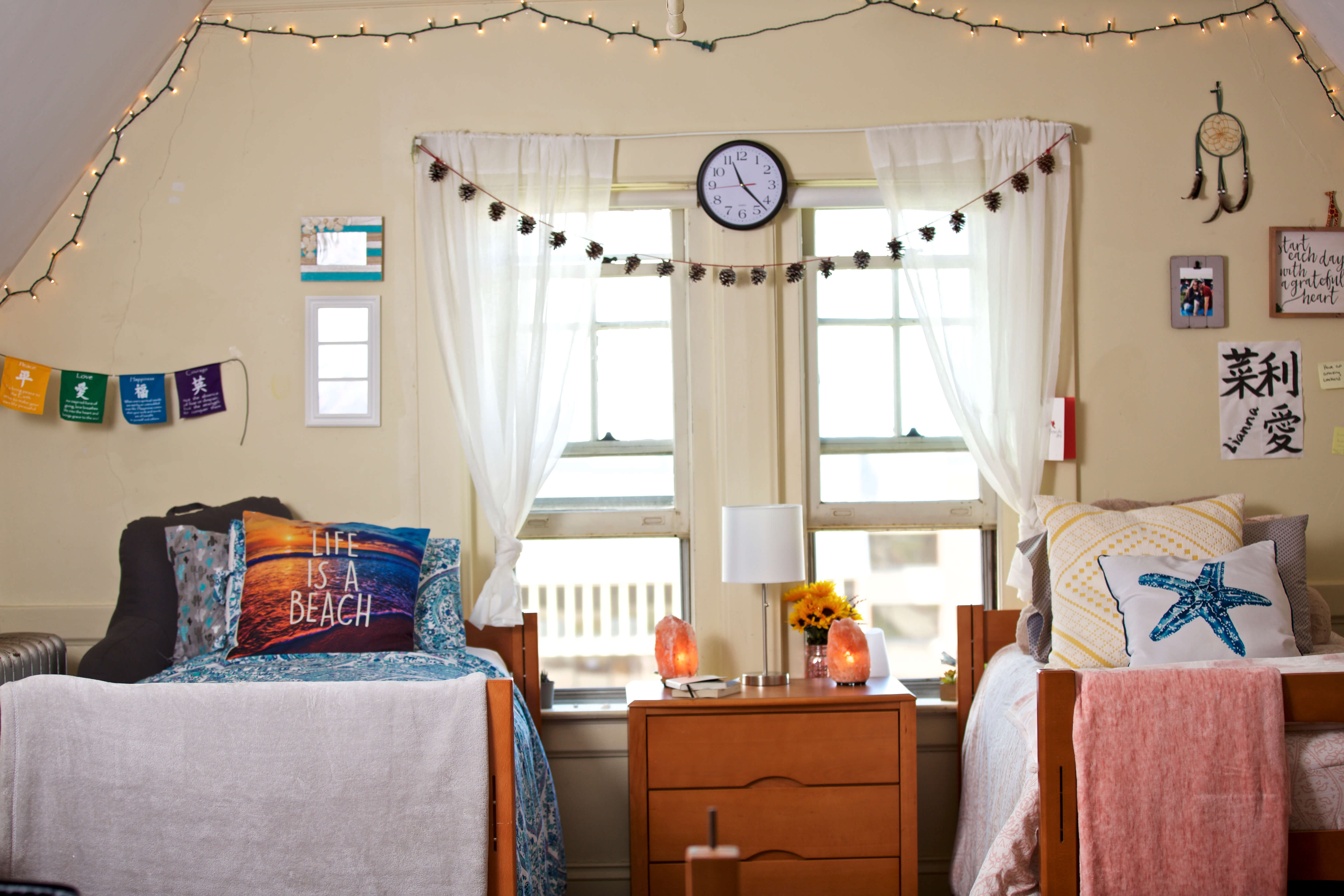 Photo of a dorm room in O'Leary Hall