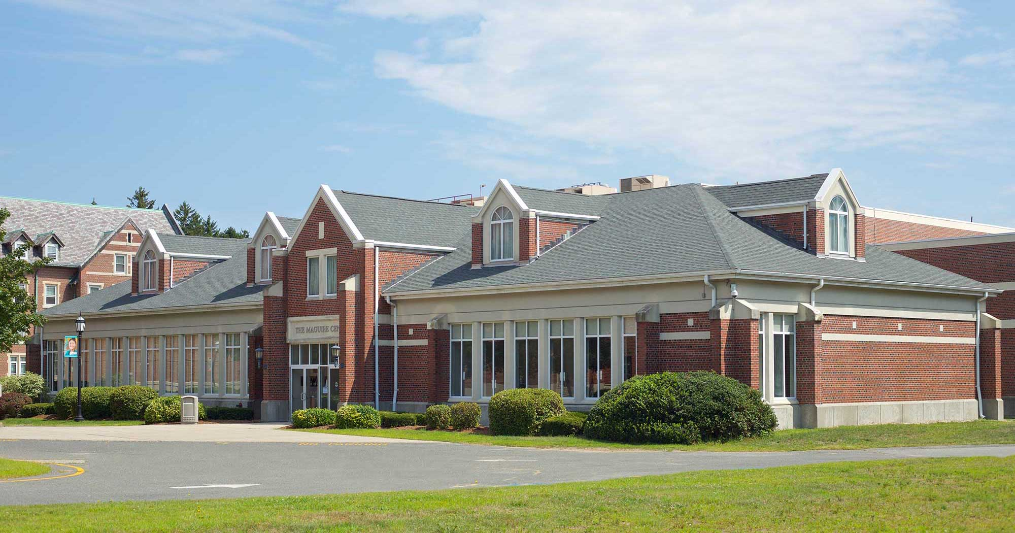 Photo of the exterior of the Maguire Center