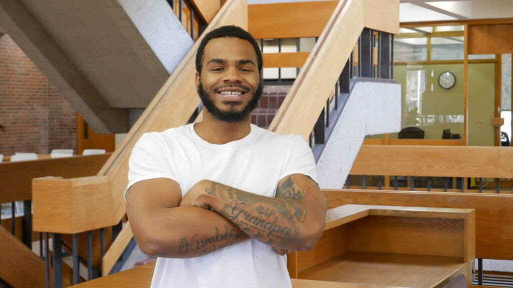 Photo of Julian Manning '20, sociology major