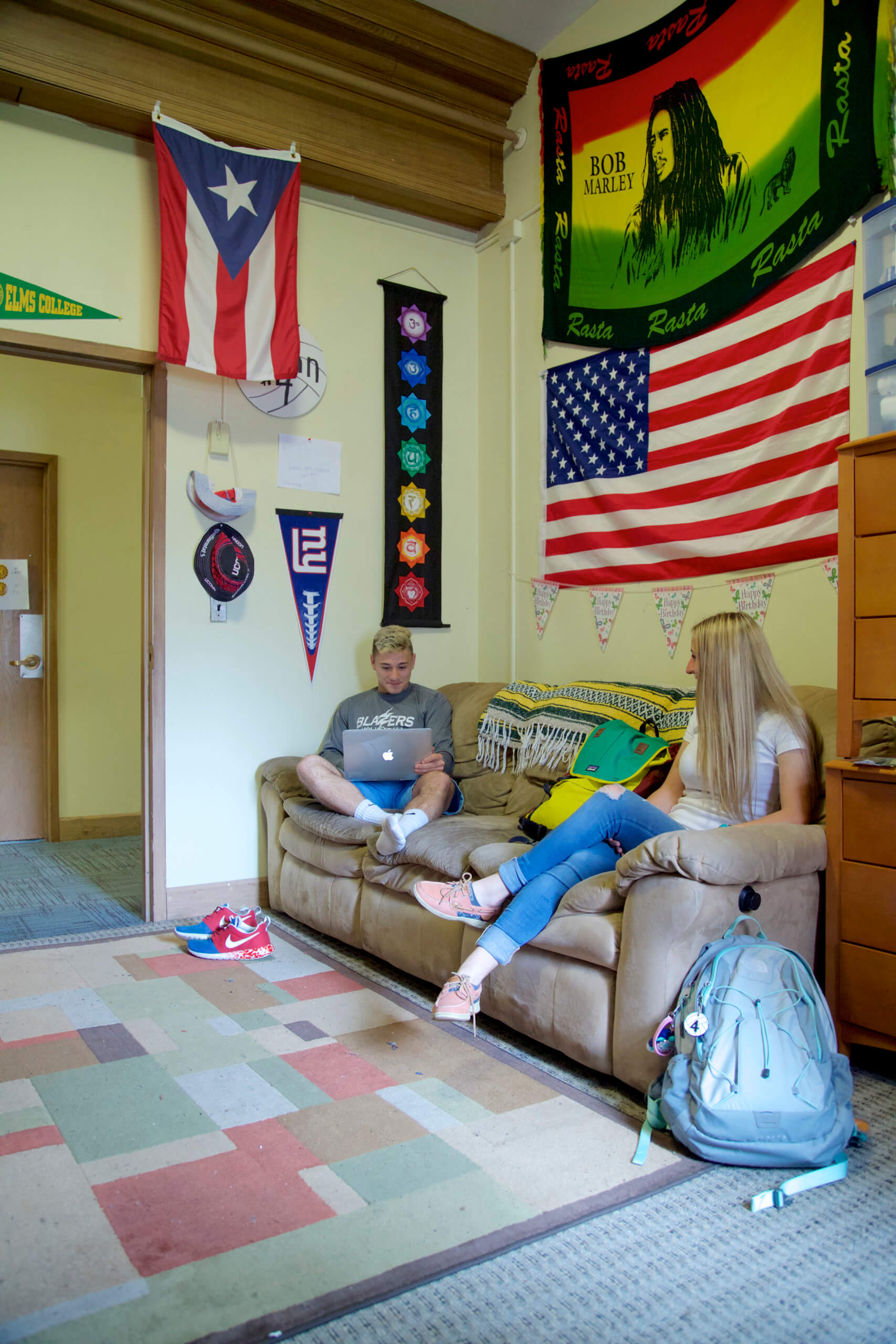 Photo of students in a room in O'Leary Hall