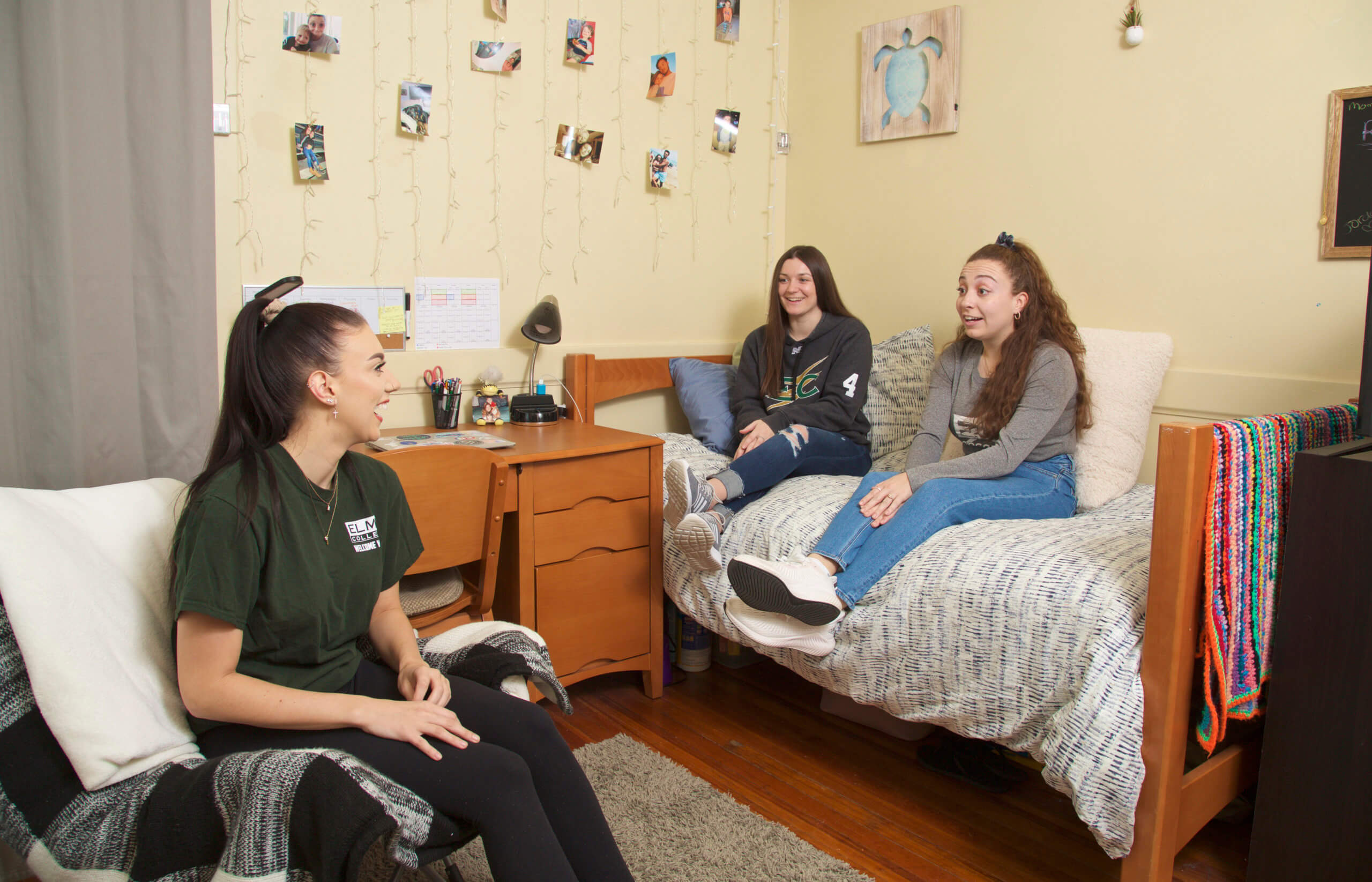 Photo of students in a room of O'Leary Hall